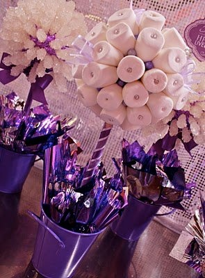 Candy Marshmallow Centerpieces & Decor! Super cute & fun centerpiece or party decor! www.hollywoodcandygirls.com