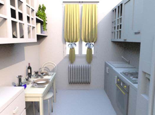 Cocinas peque as bien aprovechadas ideas para el hogar - Ideas de cocinas pequenas ...