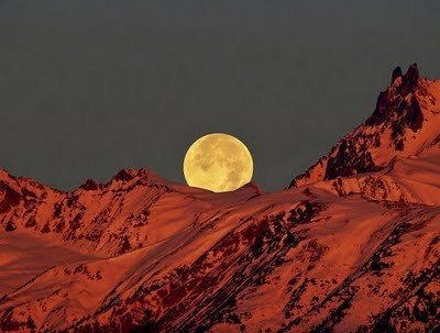 Setting Moon in Pemberton Valley, BC Canada (photography by Jeff Simms of Cowboy Wildlife Photography)