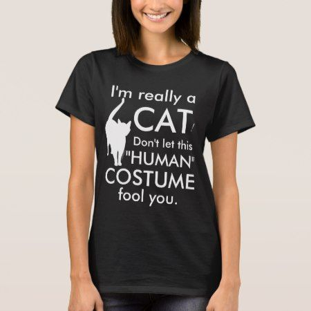 Funny Cat Costume, Halloween Women's T-Shirt - tap to personalize and get yours