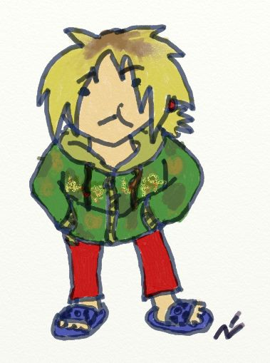 Zinnian doodle  On April 9TH, 2014 I wore this outfit to a meeting I had