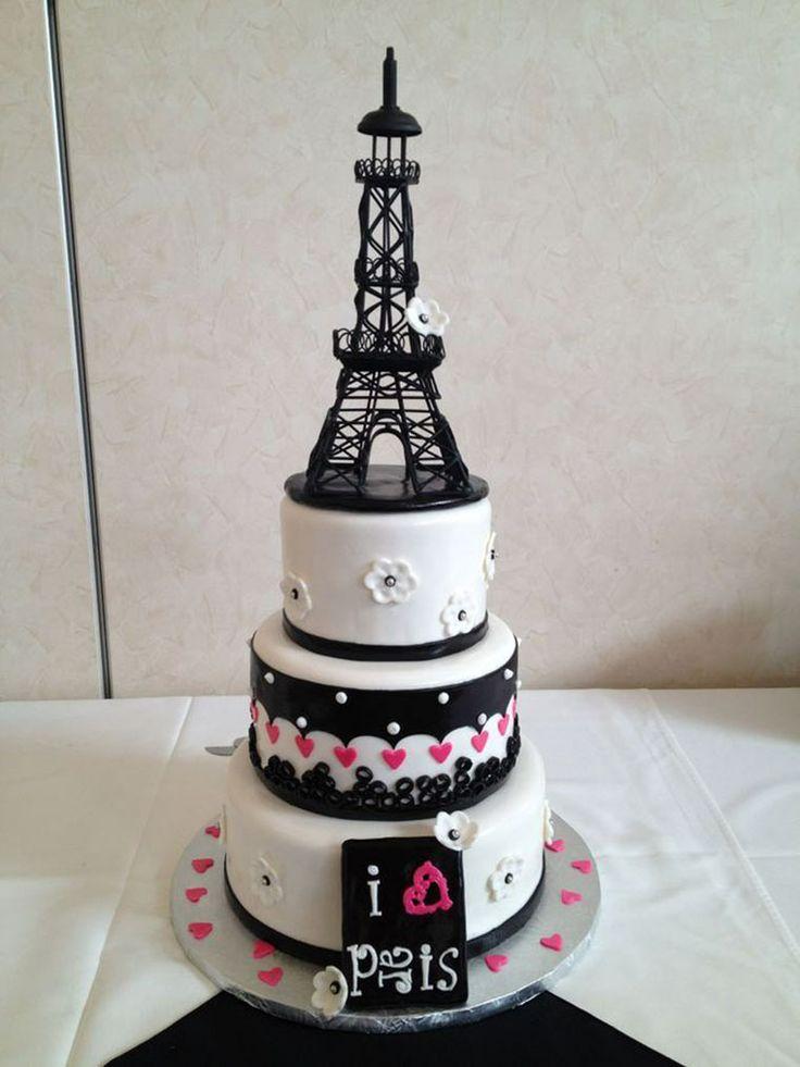 i love paris -cake