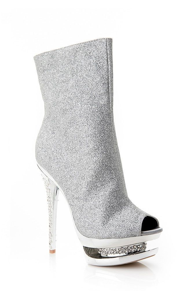 Women's Fashion High Heels :    Check out the very fierce and sparkling Peep Toe Pump Bootie! It features a padded insole, rhinestone heel and pump, peep toe front, side rear zipper for closure, and sparkling glitter surface. This diva looking bootie is perfect for going out! Pair them up... - #HighHeels https://youfashion.net/shoes/high-heels/trendy-womens-high-heels-check-out-the-very-fierce-and-sparkling-peep-toe-pump-bootie-it-features-a-padd/