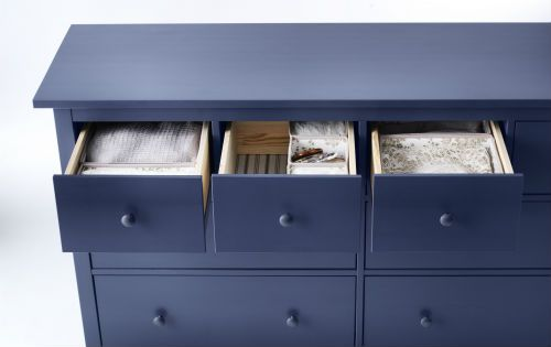Ikea Fan Favorite Hemnes 8 Drawer Dresser With Extra Roomy And Smooth Running Drawers Pull Out Stops A Cool Blue Color What