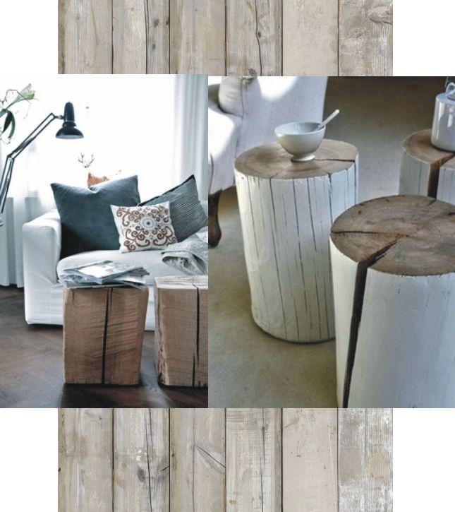 mooi met verweerd hout en wit