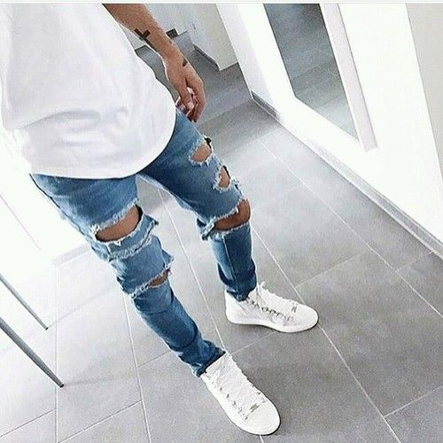 Ripped guys jeans