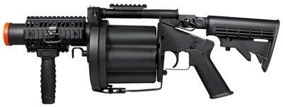 ICS-190 GLM Grenade Launcher, Multiple by ICS. $110.52. This 6-shot grenade launcher by ICS delivers all the necessary firepower needed to advance your team members during intense airsoft skirmish situations. The grenade launcher is crafted from industrial strength ABS plastic material and is comfortable to carry for extended periods of time on the battlefield. The grenade launcher features a 6-position and 3-angle adjustable stock, a M1913 quad rail handguard & spring-...