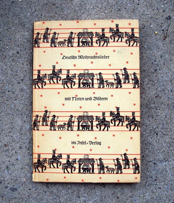 Vintage German Christmas Carol Book (1951) by Helmet Waldia - Germany (With images) | Christmas ...