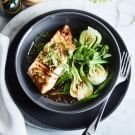 Try the Ginger-Scallion Sea Bass with Bok Choy and Snap Peas Recipe on williams-sonoma.com/