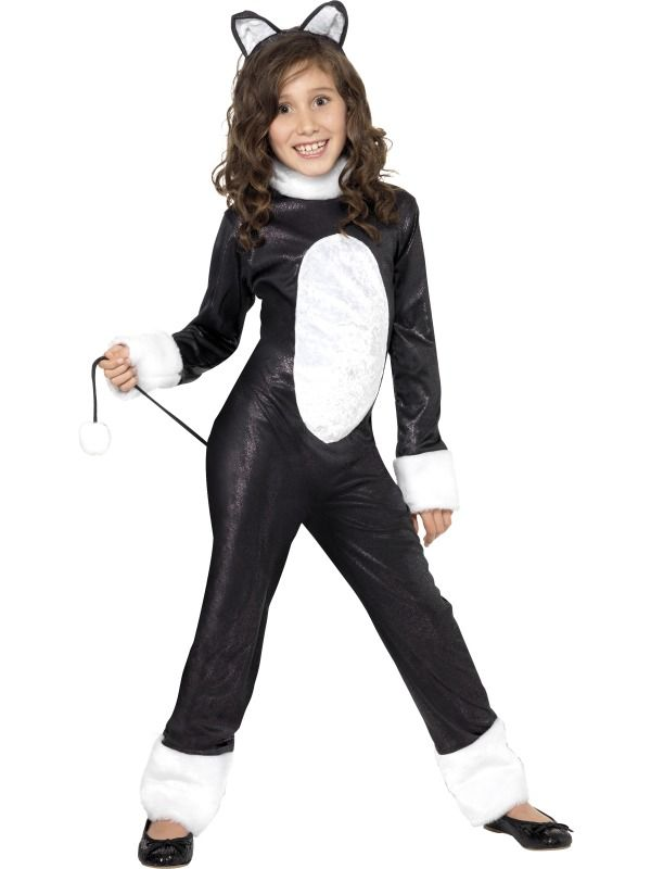 Cool Cat Girls Costume | Kids Black Cat Halloween Costume