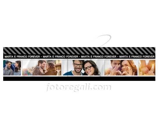 Sciarpa in pile con grafica collage