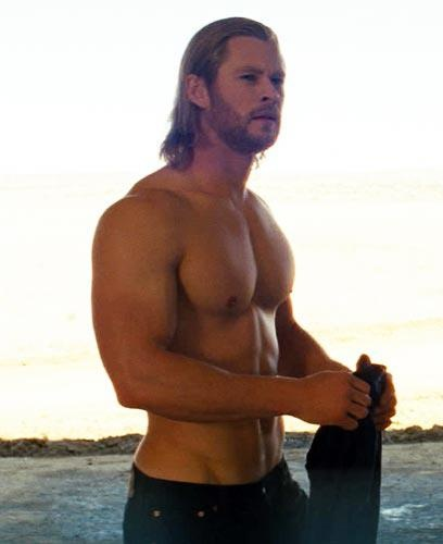 Chris Hemsworth-thor the movie that launched his movie carer-you could wash your lingerie on those abs