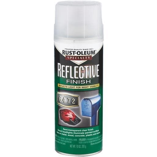 Rust-Oleum Reflective Spray Paint 214944 Unit: Each, Grey metal