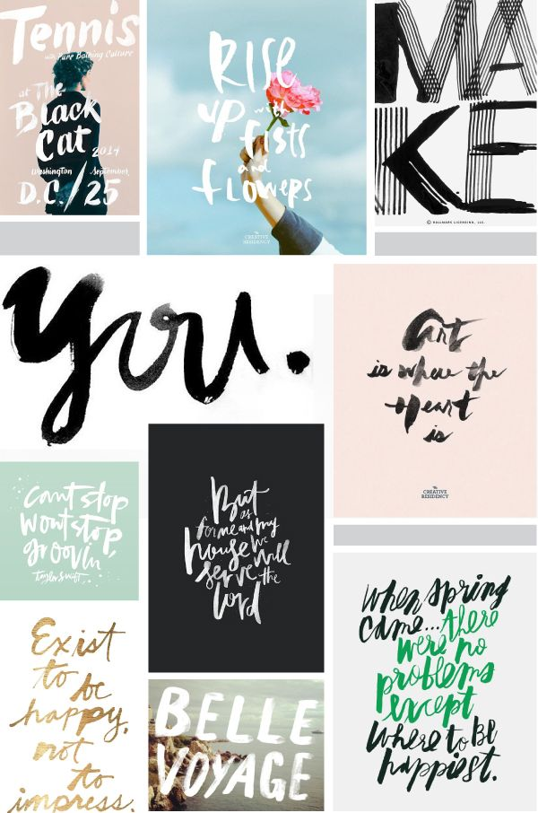 INSPIRATION | RECENT HANDLETTERING PICKS