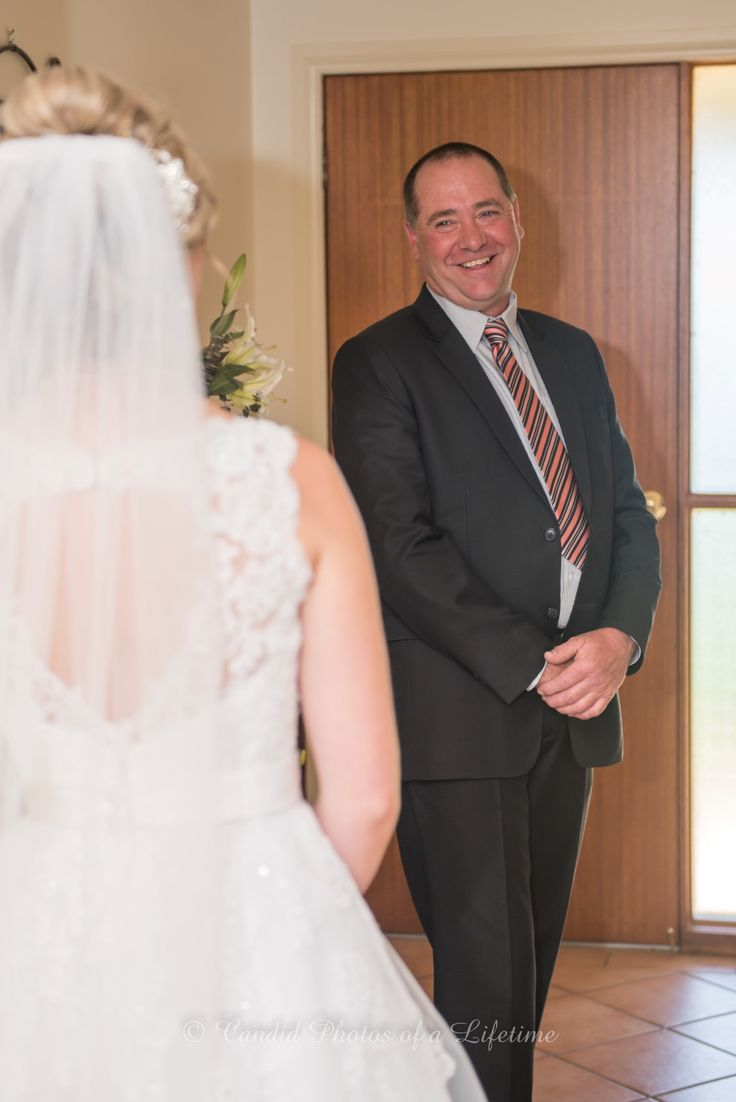 Wedding photographer, Candid Photos of a Lifetime  1st look between Dad & Daughter