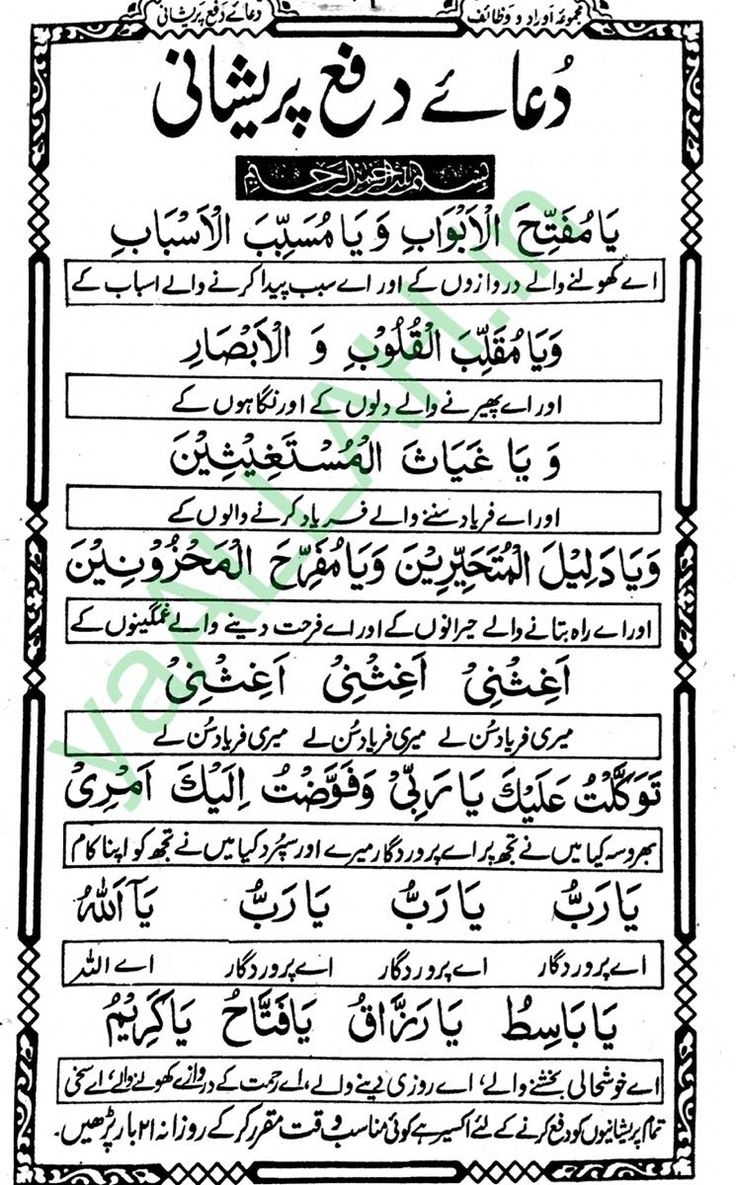 Dua for Difficulties
