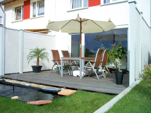 sichtschutz trennwand reihenhaus google suche sch haus pinterest reihenhaus. Black Bedroom Furniture Sets. Home Design Ideas