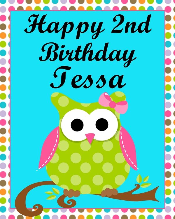 Turquoise Teal Blue And Green Owl Birthday Invitation