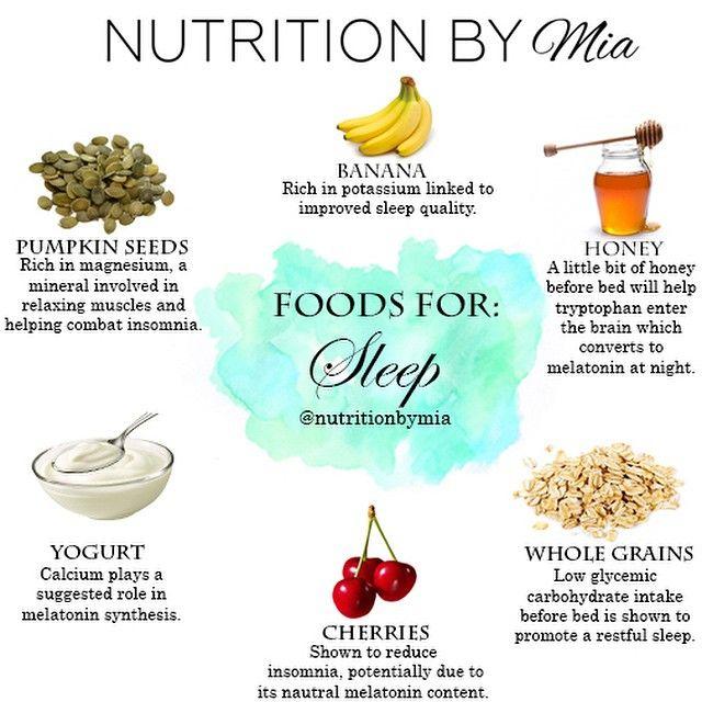 Foods for sleep | nutritionbymia.com