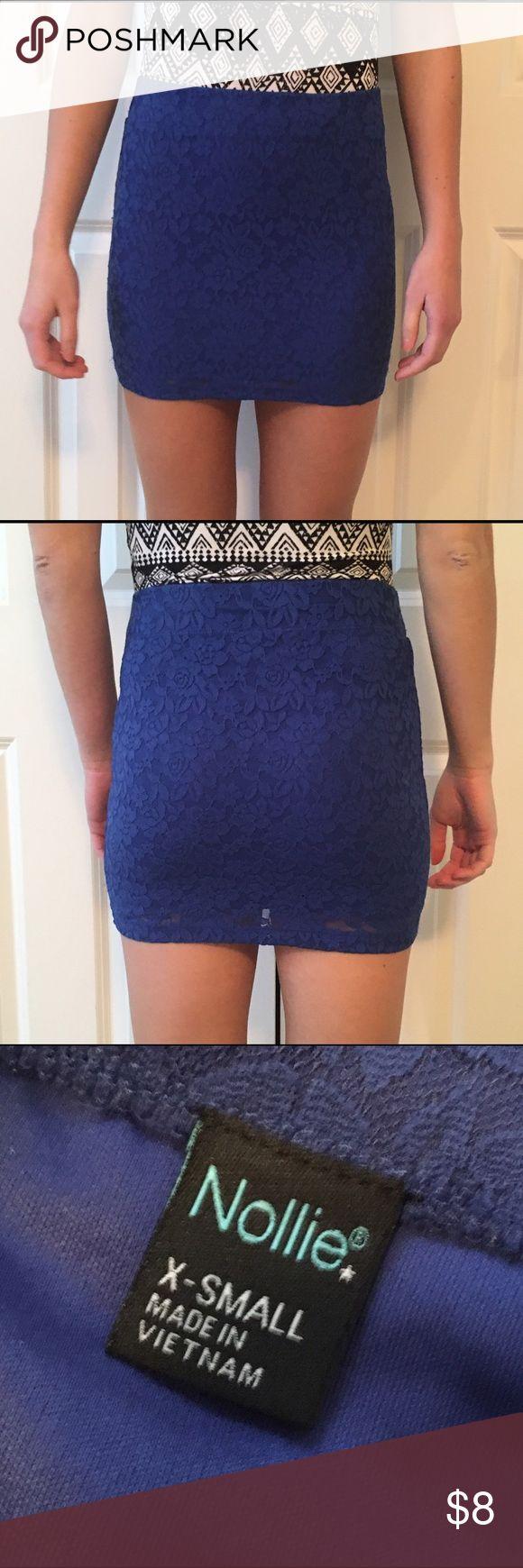 Blue Pencil Skirt Very comfy blue pencil skirt Nollie Skirts Pencil