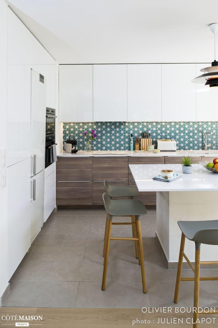 Les 25 meilleures id es de la cat gorie papier peint cuisine sur pinterest d cor d 39 appartement - Papier peint sur carrelage ...
