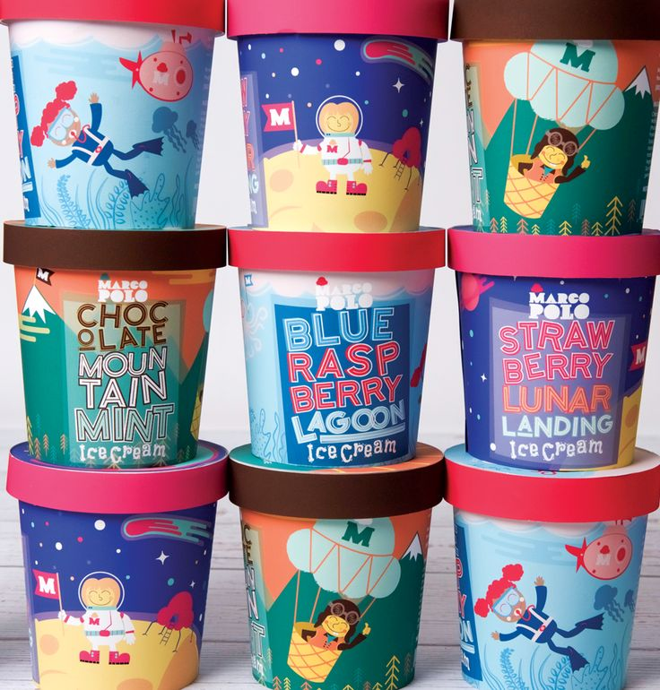 Packaging Design  Marco Polo Ice Cream by Kayla Dohmen