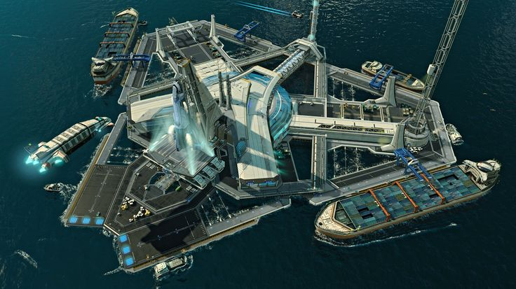 Spaceports are special buildings given to the player every time they gain access to a new sector. Their main purpose is to serve as the central storage facility of the sector, and they can be upgraded to provide access to Transfer Routes, the World Market and Energy Transmission. Unlike Anno 2070's counterpart, the Ark, Spaceports cannot be relocated or have their appearance customized. However, they do provide access to stored goods via the Command Ship when necessary to complete...