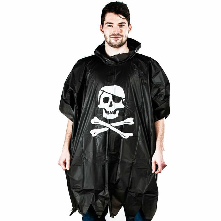 Pirate rain poncho - £4.49 http://www.filthyfox.co.uk/pirate-waterproof-poncho.html
