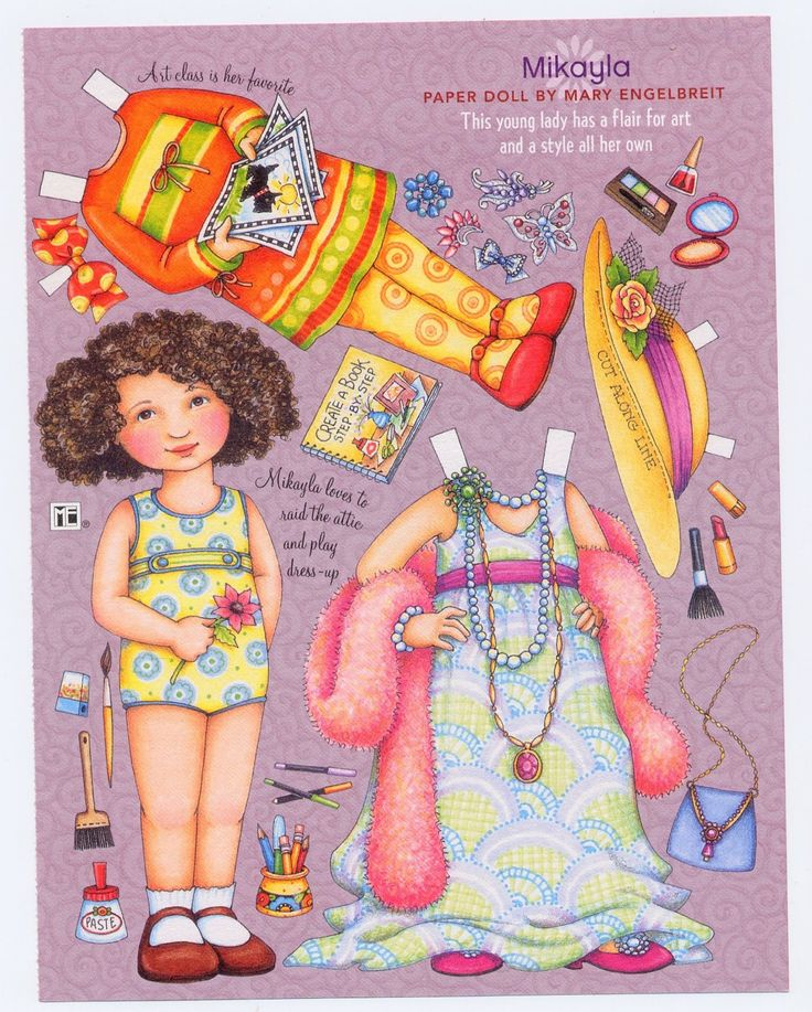 Mary Engelbreit Paper Doll Mikayla At Art Class