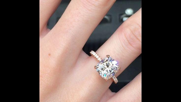 3 Karat Cushion Cut Diamond Ring