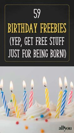 Get free stuff—just for being born! These restaurants, retailers and more offer special discounts and freebies on your birthday. discounts on food, travel deals, best deals #travel #savemoney