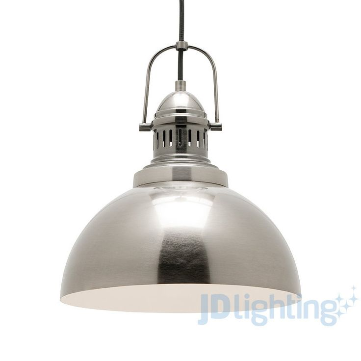 Mercator Industry Antique Silver Industrial Style Pendant Light - MP9031