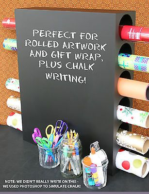 POTTERY BARN CHALKBOARD ART HOLDER - NIB - GET ROLLING WITH SOME GREAT STORAGE!