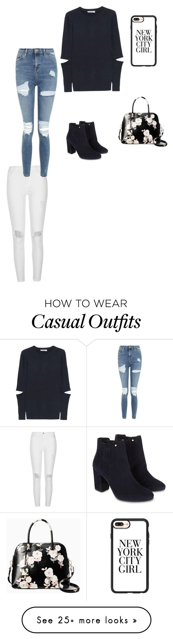 """""""Casual outfit"""" by outfitscasual on Polyvore featuring Adeam, River Island, Monsoon, Casetify, Topshop and Kate Spade"""