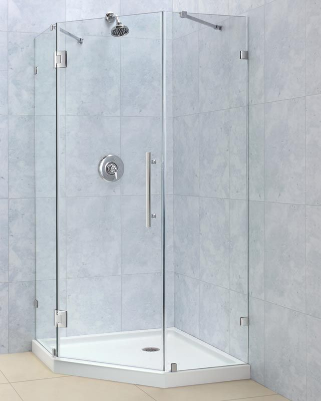 The Frameless Neo Angle Shower Enclosure