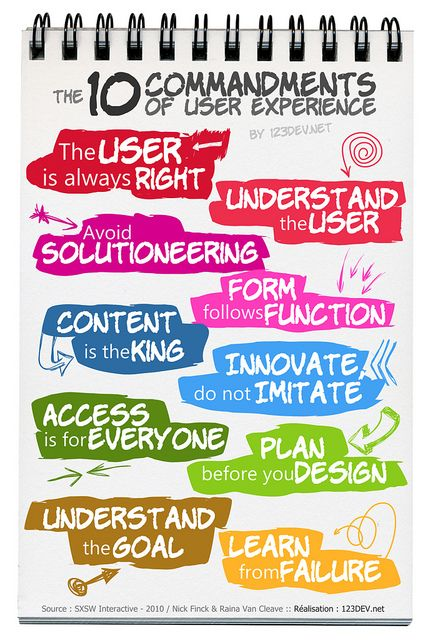 10 commandments of the user experience | Flickr : partage de photos !