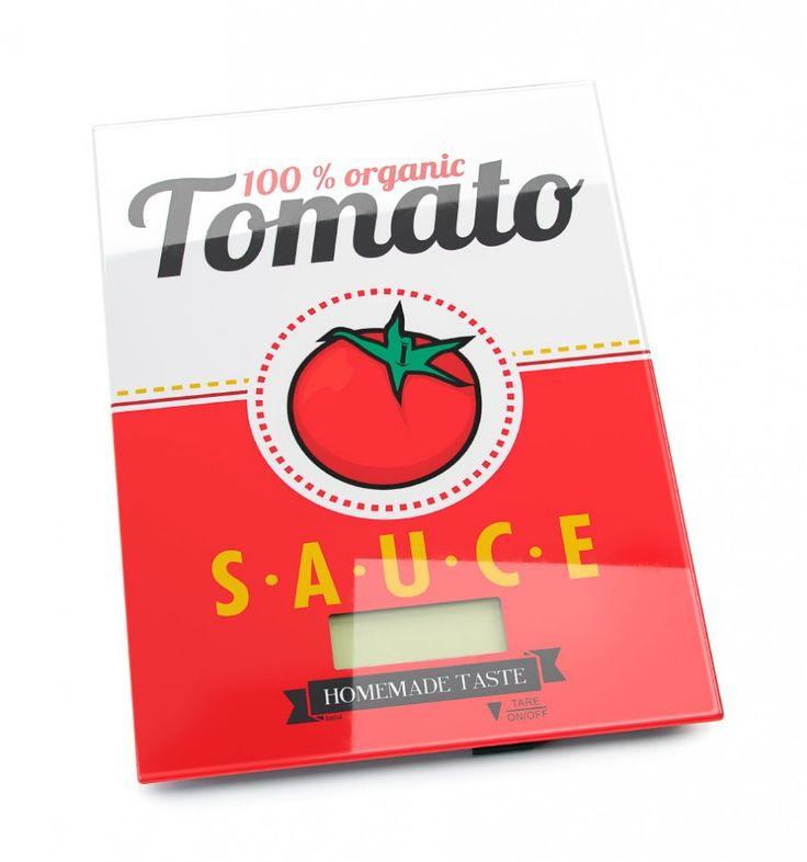 Báscula digital balanza cocina Tomate