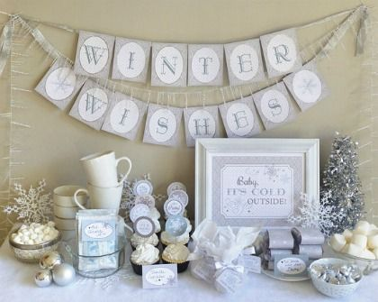 12 Festive Ideas for Your Winter Baby Shower. Great ideas for winter parties in general, too.