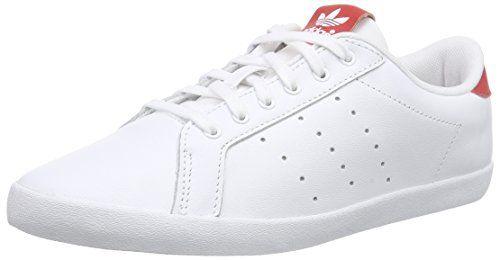 adidas Originals Miss Stan, Damen Sneakers, Weiß (Ftwr White/Ftwr White/Collegiate Red), 43 1/3 EU (9 Damen UK) - http://on-line-kaufen.de/adidas-originals/43-1-3-eu-adidas-originals-miss-stan-damen-sneakers