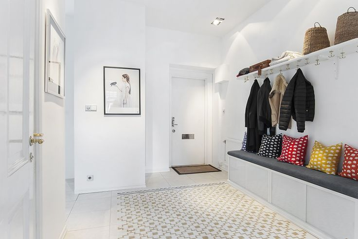 White, clean interior with just a splash of color