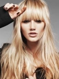 Love the blunt bangs...wonder if it would work with a widows peak?