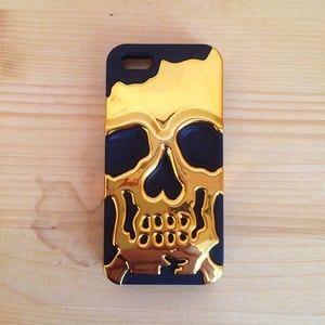 Защитный чехол Череп Skull Head Золото для iPhone 4&4s