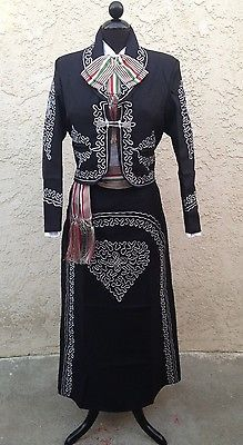 Mexican-Charra-Mariachi-Suit-Size-40-From-Mexico-5-PieceSet-Traje-Charra-Talla40