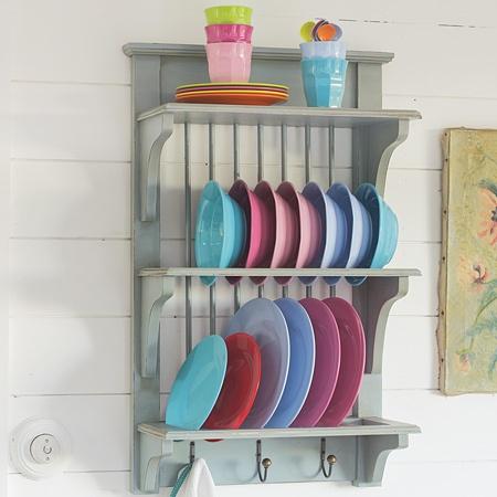 Duck Egg Blue Plate RackBlue Plates, Open Shelves, Kitchens Ideas, Plates Racks, Ducks Eggs Blue, Storage Ideas, Dishes Racks, Wooden Plates, Kitchens Storage