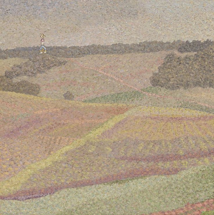 Alexander Kharitonov (Russian, 1932-1993), The Fields, 1979. Oil on canvas, 29.9 x 29.9cm.