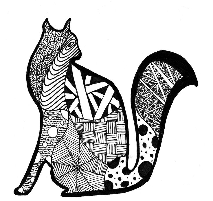 117 Best Zentangle Cats Amp Dogs Images On Pinterest