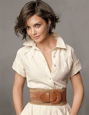 I Look Good Today: Girl Crush: Katie Holmes ... love the wide belt ♥♥♥