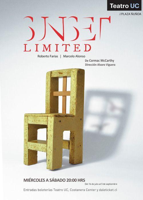 Afiche creado para la obra Sunset Limited