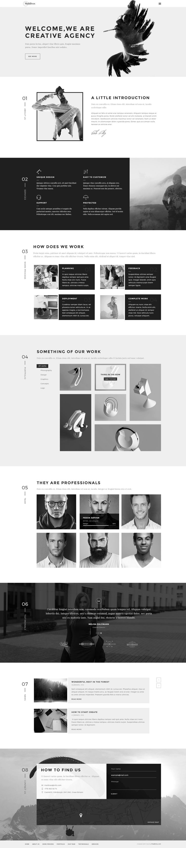 Maldives - Creative Agency OnePage HTML Template • Download ➝…