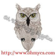 Henna Owl Embroidery Design – Oh My Crafty Supplies